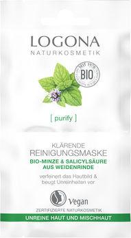 LOGONA PURIFY Klärende Reinigungsmaske Bio-Minze 15ml