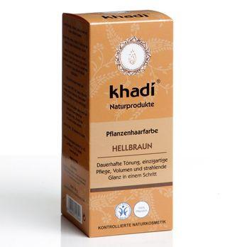 Khadi Pflanzenhaarfarbe Hellbraun 100g