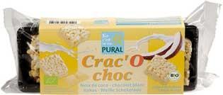 Pural Crac'O Choc Kokos Puffreis Schoko-Happen mit Weißer Schokolade 80g