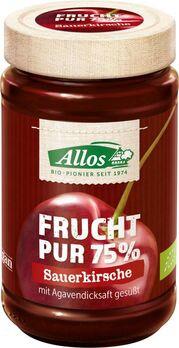 Allos Frucht Pur 75% Aufstrich Sauerkirsche 250g