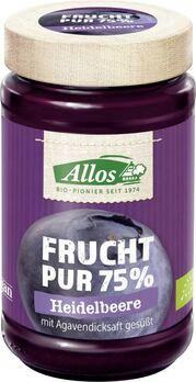 Allos Frucht Pur 75% Aufstrich Heidelbeere 250g