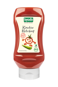 Byodo Kinder Ketchup, 80% Tomate, PET-Flasche 300ml