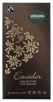 Naturata Edelbitter Schokolade Ecuador 70% Kakao 100g