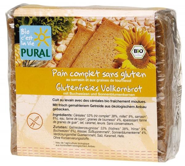 Pural Glutenfreies Vollkornbrot Buchweizen & Sonnenblumen 375g