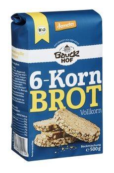 Bauckhof 6-Korn Brot Vollkorn Backmischung demeter 500g
