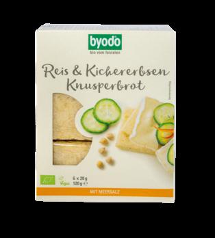 Byodo Reis und Kichererbsen Knusperbrot 6x20g
