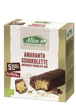 Allos Amaranth Schokolette Zartbitterriegel 5er Pack 140g