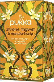 Pukka Zitrone, Ingwer & Manukahonig Tee 20 Beutel