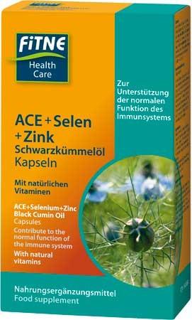 FITNE ACE + Selen + Zink Schwarzkümmelöl Kapseln 60 Stück