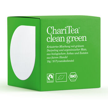 ChariTea clean green Pyramidenbeutel 10 x 1,8g