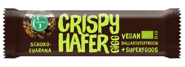 GREENIC Crispy Hafer Gigg Schoko-Guarana 35g