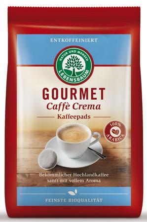 Lebensbaum Gourmet Cafè Crema, entkoffeniert, Pads 126g