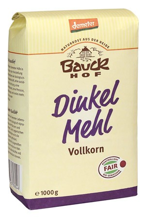 Bauckhof Dinkelmehl Vollkorn Demeter 1kg