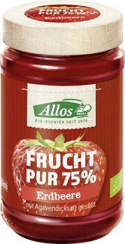 Allos Frucht Pur 75% Aufstrich Erdbeere 250g