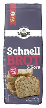 Bauckhof Schnellbrot-Backmischung 5-Korn glutenfrei 475g