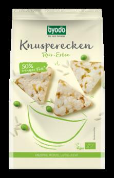 Byodo Knusperecken Reis-Erbse 90g