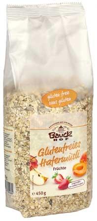 Bauckhof Glutenfreies Hafermüsli Früchte 450g