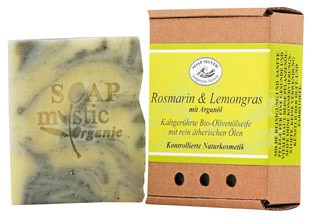 Soap Mystic Bio-Naturseife Rosmarin und Lemongras 100g