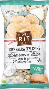 De Rit Kichererbsen-Chips Sour Cream Onion 75g