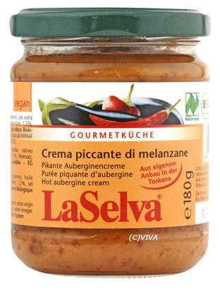 LaSelva Crema piccante di melanzane, pikante Auberginencreme 180g