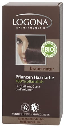 LOGONA Pflanzen-Haarfarbe Henna 080 braun-natur 100g/A
