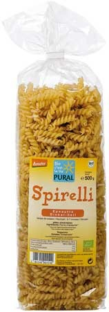 Pural Dinkel Spirelli hell demeter 500g