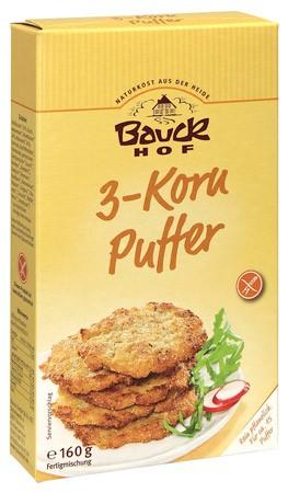 Bauckhof 3-Korn Puffer, glutenfrei 160g