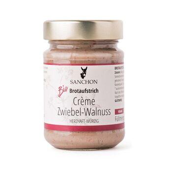 Sanchon Brotaufstrich Crème Zwiebel-Walnuss 190g