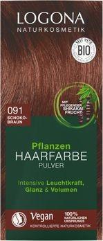 LOGONA Pflanzen-Haarfarbe Pulver 091 schokobraun 100g