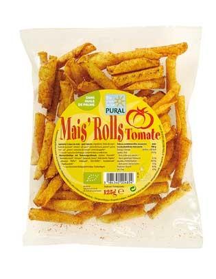 Pural Mais'Rolls Tomate, gerollte Maischips 125g