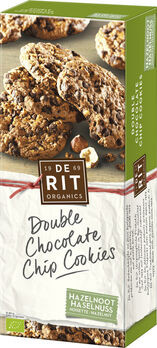 De Rit Double Chocolate Chip Cookies Haselnuss 175g
