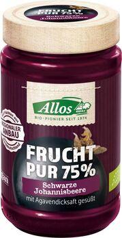Allos Frucht Pur 75% Aufstrich Schwarze Johannisbeere 250g