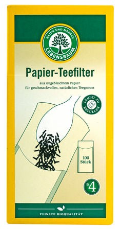 Lebensbaum Papier-Teefilter Gr. 4 100 Stück