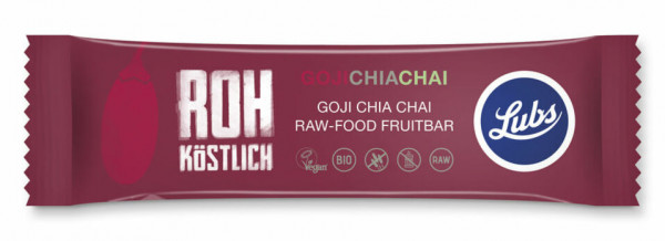 Lubs Rohkost Fruchtriegel Goji Chia Chai 47g