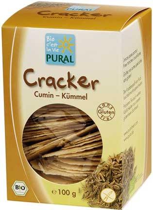 Pural Cracker mit Kümmel, glutenfrei 100g