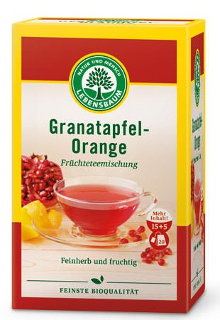 Lebensbaum Granatapfel-Orange Tee 20 Beutel