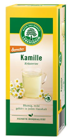 Lebensbaum Kamille Kräutertee demeter 20 Beutel