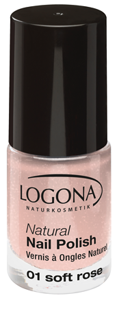 LOGONA Natural Nails Polish no. 01 soft rose 4ml