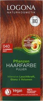 LOGONA Pflanzen-Haarfarbe Pulver 040 flammenrot 100g