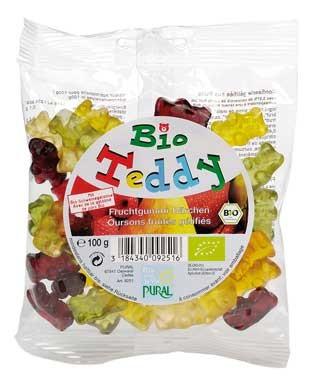Pural Fruchtgummi Bio Teddy 100g MHD 14.12.2019