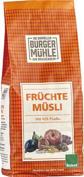 Burgermühle Früchte Müsli 750g
