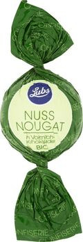 Lubs Confiseriekugeln Nussnougat mit Vollmilchschokolade 85g/S