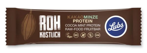Lubs Rohkost Fruchtriegel Kakao Minze Protein 47g