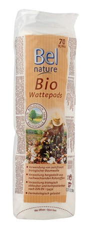 Bel Nature Wattepads 100% Baumwolle 50 Stück