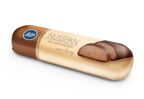 Lubs Nusspan Honig-Nussmasse mit Zartbitterkuvertüre 50g/S