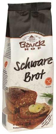 Bauckhof Schwarzbrot glutenfrei Backmischung 500g