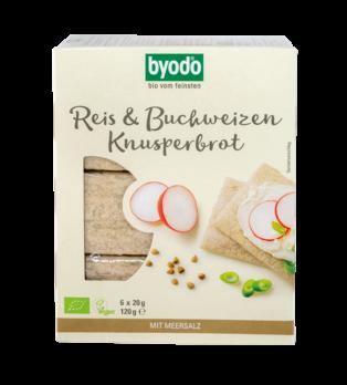 Byodo Reis und Buchweizen Knusperbrot 6x20g