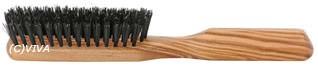 Redecker Haarbürste aus Olivenholz flach