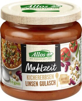 Allos Mahlzeit Kichererbsen-Linsen Gulasch 350g
