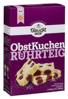 Bauckhof Obstkuchenteig Backmischung, glutenfrei 2x200g